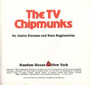 The TV Chipmunks Title Page