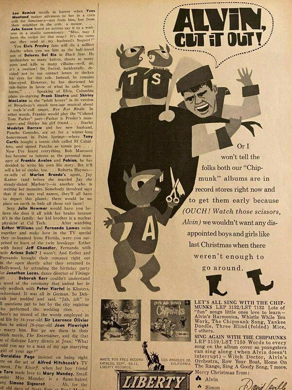 Vintage David Seville and the Chipmunks Promotional Ad