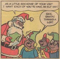 A Christmas Dream Scene Illustration