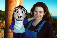 Puppeteer Carla Rudy with Jeanette Puppet