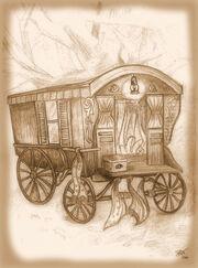 Stagecoach gypsy by janet watkins edge sepia2
