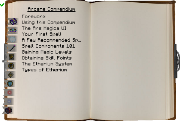 Arcane Compendium main page