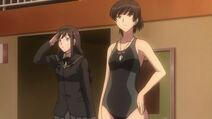 Hibiki swimsuit and haruka