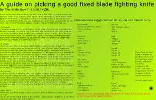 6B - Fixed Fighting Knife