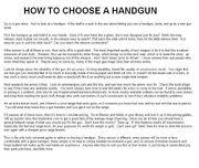5B - First Handgun -1