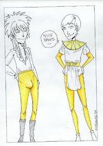 Gold pants are fierce by dumbfishie