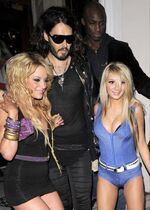 Russell brand shows off more babes
