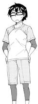 Manabu con vestimenta para realizar ejercicios en el gimnasio