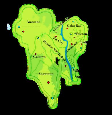 Mapa com cada cidade