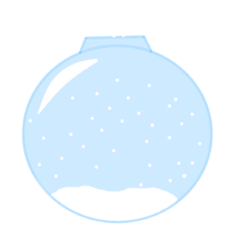 Snow Globe Christmas Ornament with the Snow Snowing