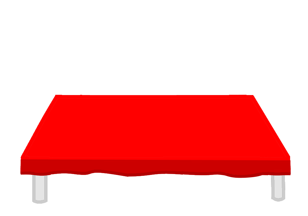 Completly White Table With Red Table Cloth.png