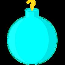Cyan Christmas Ornament