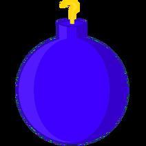 Blue-Purple Christmas Ornament