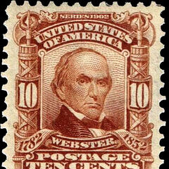 The 10c stamp, Daniel Webster. 120 million produced