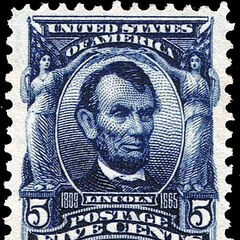 The 5c stamp, Abraham Lincoln, perf 12. 550 million produced