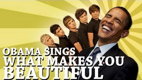 Barack Obama Singing What Makes You Beautiful by One Direction-0