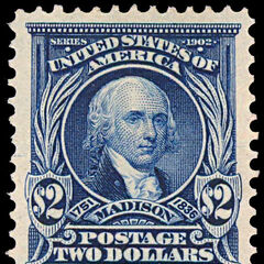 The $2 stamp, James Madison. Just 37,000 produced. Perf 10 stamps were produced in 1917, and are much more common.