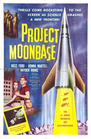 Project moon base poster 1953