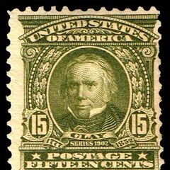 The 15c stamp, Henry Clay. 41 million produced