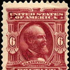 The 6c stamp, James A. Garfield. 120 million produced