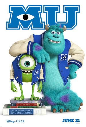 Monsters university mu june 21 movie poster mike and sully