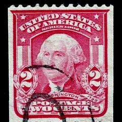 The 2c stamp, George Washington, horizontal coil stamp (pairs are seldom seen on the market)