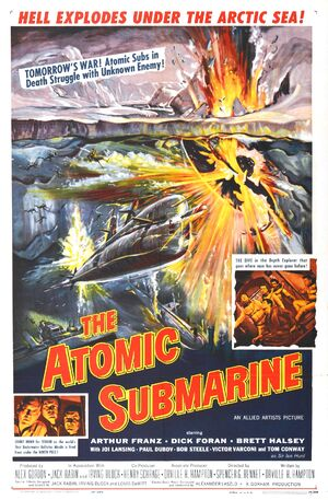 The atomic submarine poster