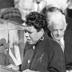 Angelou reciting her poem <i><a href=
