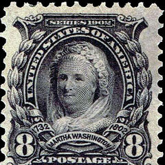The 8c stamp, Martha Washington. 180 million produced.