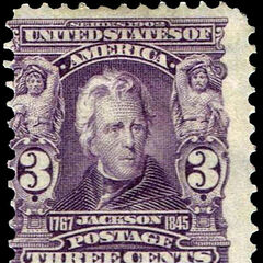 The 3c stamp, Andrew Jackson. 280 million produced