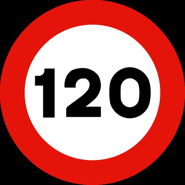 Limite velocidad 120 autovia