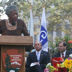 Angelou with <a href=