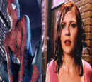 Kiss between Mary Jane Watson and Spider Man