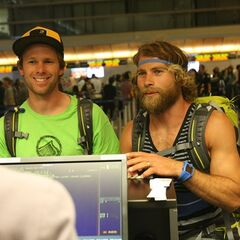 Andy & Tommy at the airport in the <a href=