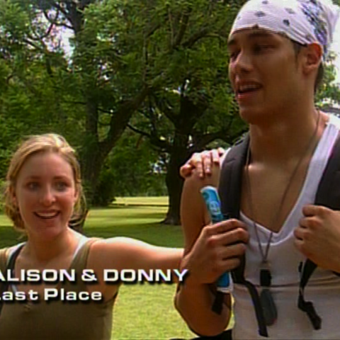 Alison & Donny were eliminated from the race in 10th place.