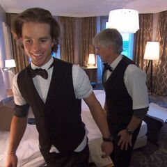 Dave & Connor clean up a Hotel Room in ninth leg.