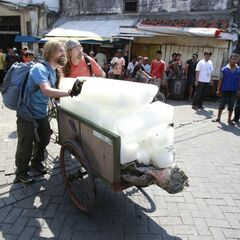 James & Abba doing the <i>Ice-by-the-Pound</i> <a href=