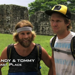 Andy & Tommy were eliminated from the race in 4th place after a costly blunder.