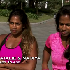 Natalie & Nadiya were the first team to get eliminated in The Amazing Race: All-Stars (2014) after falling apart at the bubble-coaster.