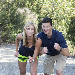 An alternate promotional photo of Kelsey & Joey for <i>The Amazing Race</i>.