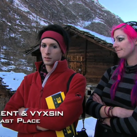 Kent & Vyxsin were eliminated from the race in 5th place for the second time after a costly error.