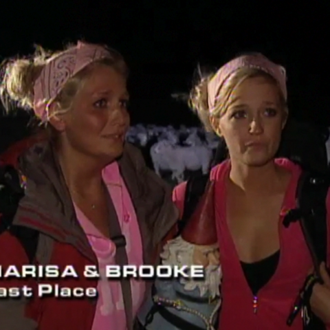 Marisa & Brooke were eliminated from the race in 8th Place.