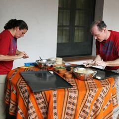 Dave & Cherie making Empanadas during <a href=