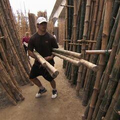 Trey & Lexi doing the <i>Bamboo Jungle</i> Detour in the <a href=