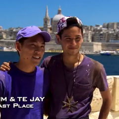 Tim & Te Jay were eliminated from the race in 6th place.