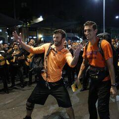 Brodie & Kurt doing the <i>Mariachi Madness</i> Detour in Leg 1.