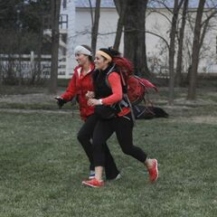 Mona & Beth running to the <a href=
