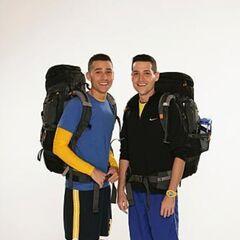 Dan & Jordan's alternate promotional photo for <i>The Amazing Race</i>.