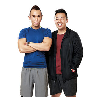 An alternate promotional photo of JK & Mike for <i>The Amazing Race Asia</i>.