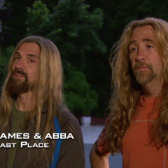 James & Abba were eliminated from the race in 6th place having unable to find Abba's passport.